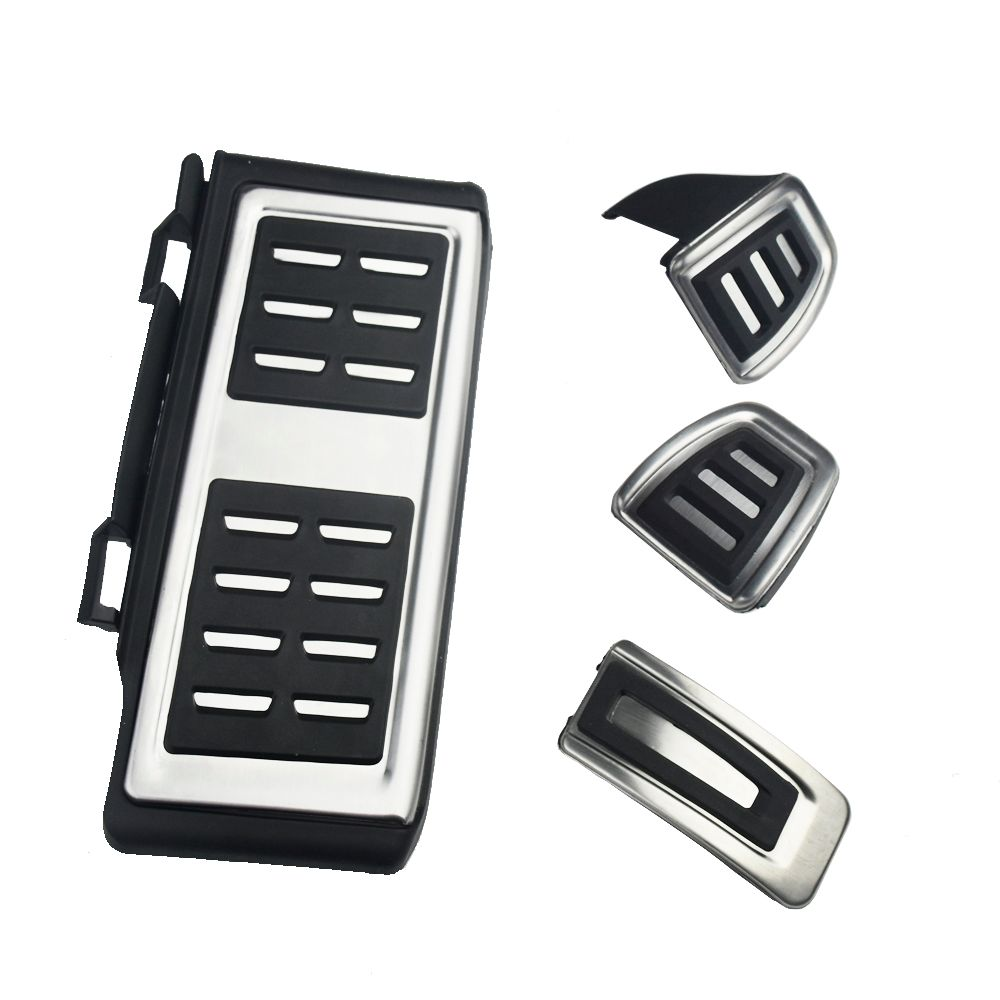 Stainless Steel Pedal Cover For VW GOLF 7 GTi MK7 Lamando POLO A05 Passat B8 Skoda Rapid Octavia 5E 5F A7 2014+