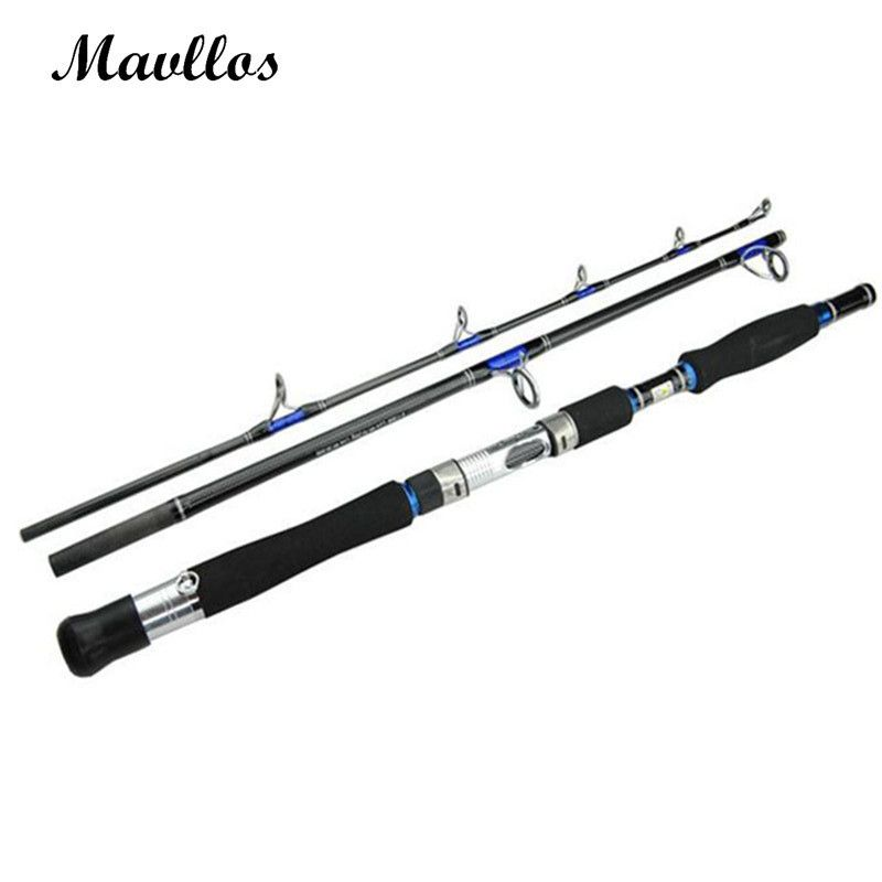 Mavllos Lure Weight 70-250g 3 Section Boat Jigging Fishing Rod Fast Action Carbon Fiber Saltwater Spinning Fishing Rod Pole