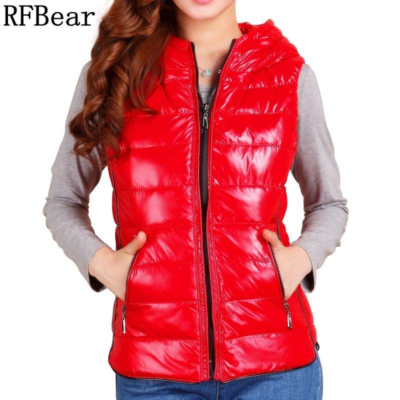 RFBear Brand 2017 women winter jacket sleeveless white duck down jacket women's jacket the windshield thing warm vest fashion XL