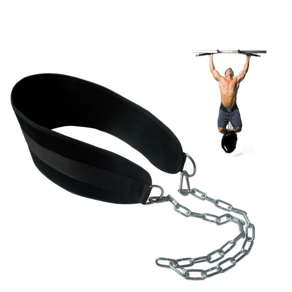 Crossfit Weight Lifting Belt Adjustable Lifting Weights Musculation Bodybuilding Dip Belt Fitness Gym Workout Pull Up Chain Belt