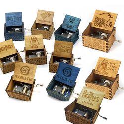Nuevo Harry caja de música de madera Potter Juego de tronos regalo para Chirstmas Feliz cumpleaños Año nuevo regalo de los niños