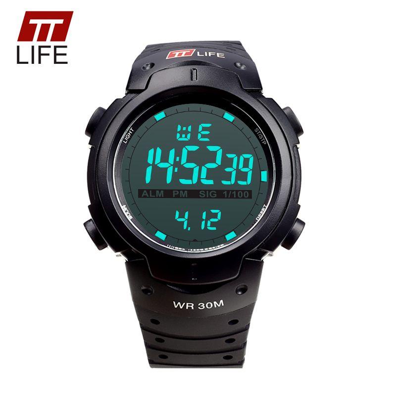 2017 TTLIFE Marke Herrenuhr LED Digital Analog Multifunktions Wasserdichten Outdoor-Sport Militär Outdoor Uhren für Männer
