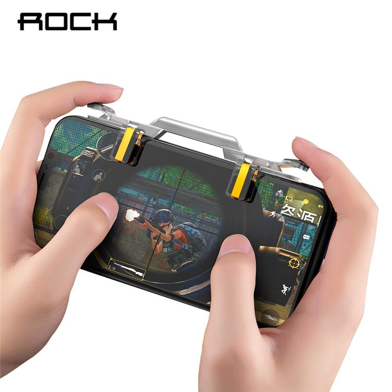 ROCK Mobile Game Fire Button Aim Key Phone Gaming Trigger for PUBG Rules of Survival L1 R1 Shooter