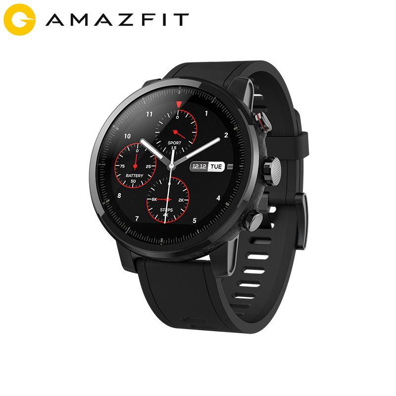 2019 neue Amazfit Stratos + Flaggschiff Smart Uhr Genuie Lederband Geschenk Box Sapphire 2 S