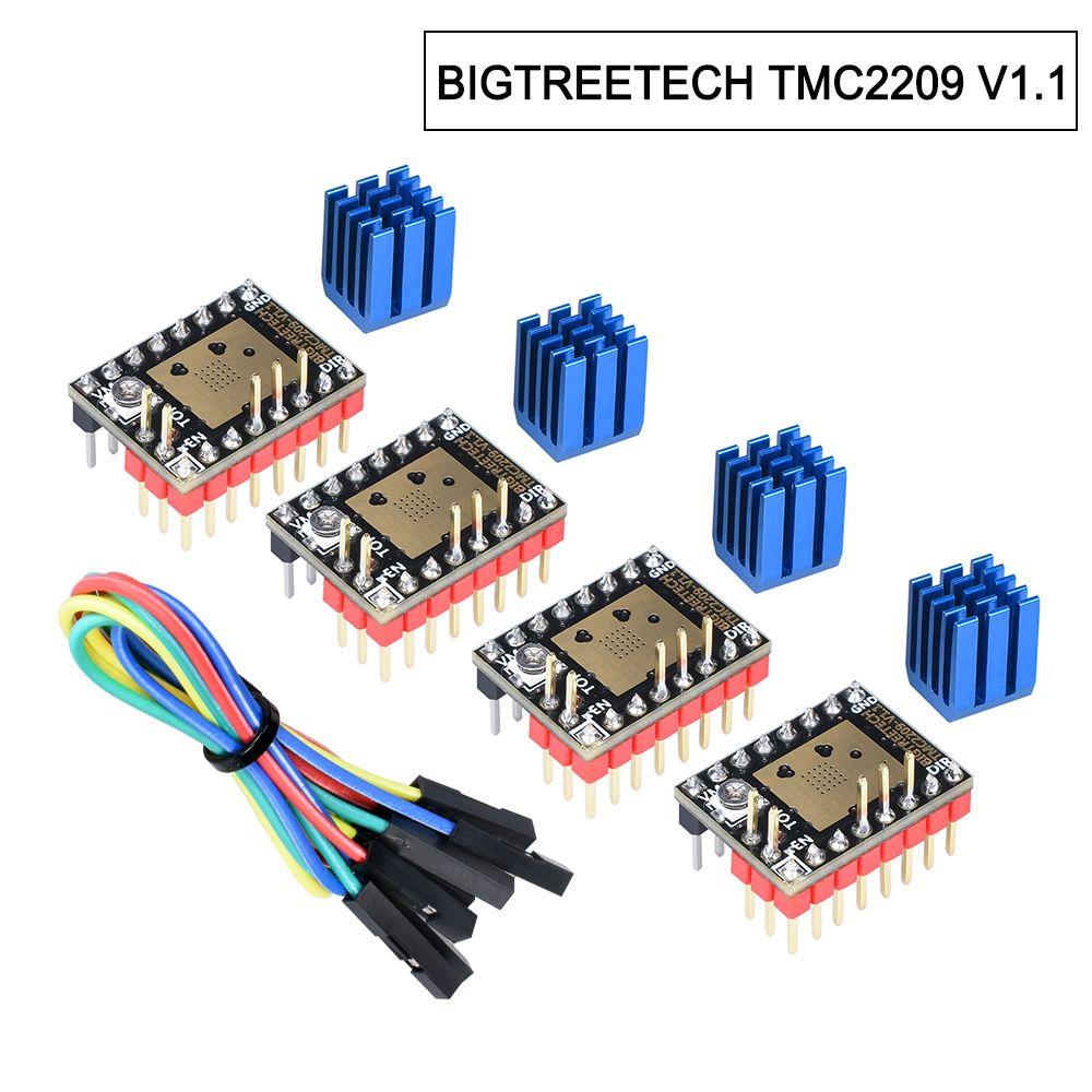 In stock BIGTREETECH TMC2209 V1.2 Stepper Motor Driver TMC2208 UART Driver 2.8A 3D Printer Parts VS TMC2130 For SKR V1.3 mini E3