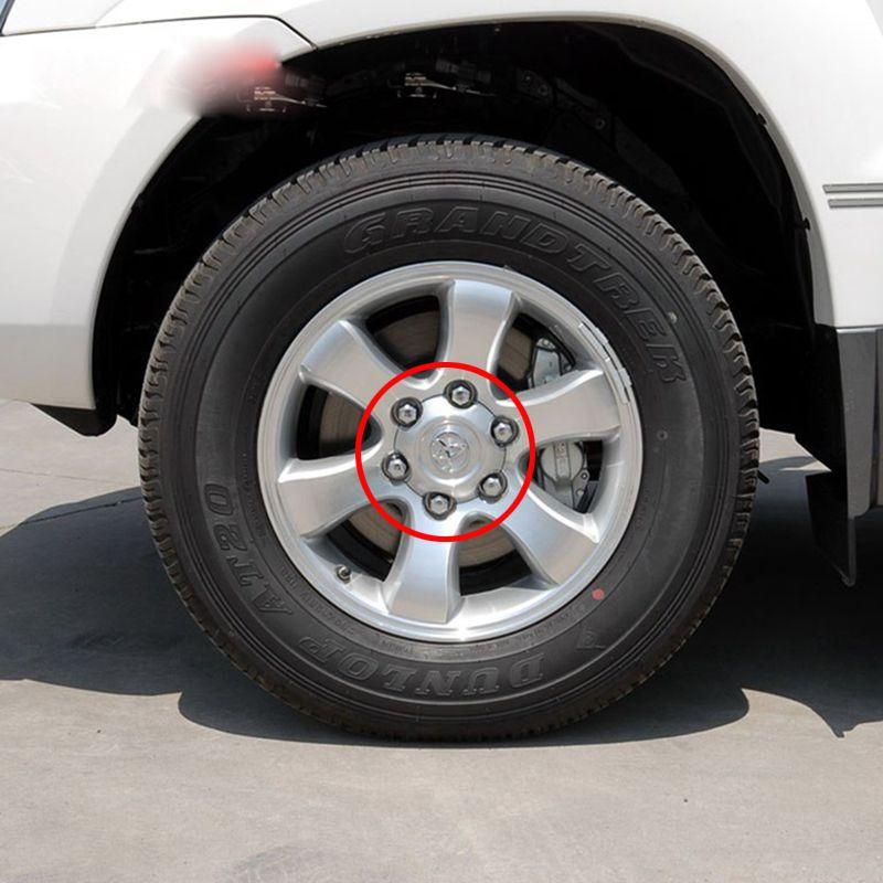 4Pcs 140mm 95mm Silver Full Chrome Wheel Center Hub Cap Alloy Hubcaps Fit For 2003 - 2013 Toyota Land Cruiser 4000 Prado 4.0L