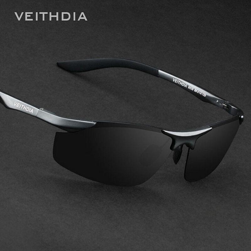 VEITHDIA Brand Designer Rimless Mens Aluminum Sunglasses Polarized Lens Male Sun <font><b>Glasses</b></font> oculos de sol masculino For Men 6529