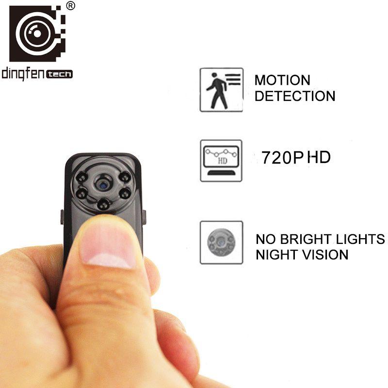 Neue 720 P Micro Kamera HD Mini-DV DVR Kleine Cam Bewegungssensor Unsichtbare Infrarot-nachtsicht Video Voice Recorder