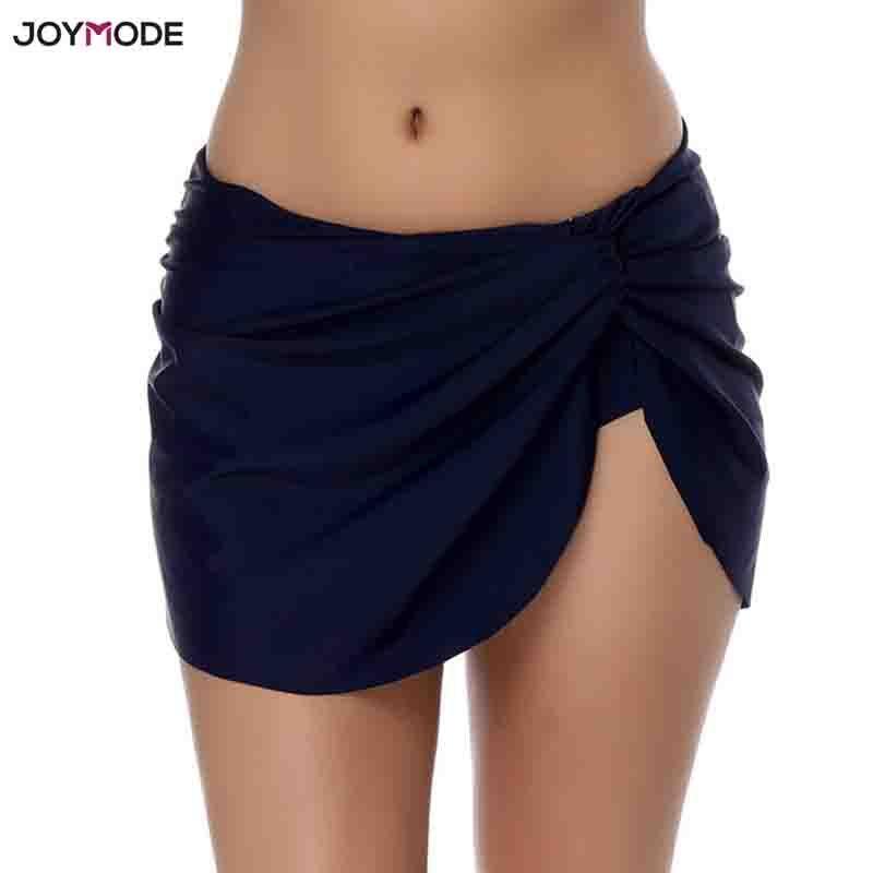 JOYMODE 1 STÜCK Solide Bikini Bottoms Kleid Slip Strand Rock Kurzen Schwimmen tragen Frauen Badeanzug Maillot De Bain Femme sommer