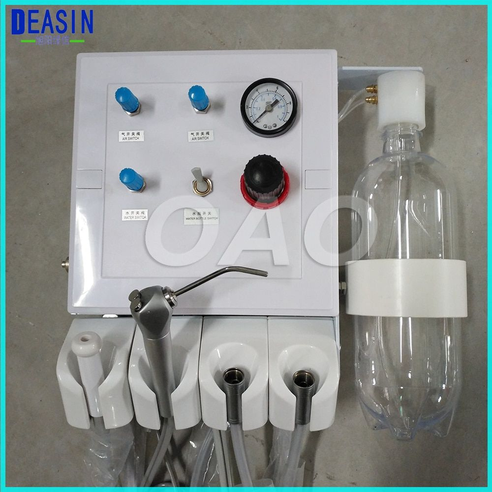Dental Lab Portable Weak suction two Turbine Unit Air Compressor 3 way straw Wall Type Hanging