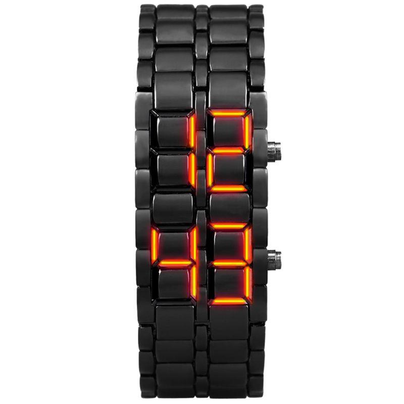 Aidis jeunes montres de sport électronique étanche deuxième génération binaire LED numérique montre pour hommes en alliage bracelet montre