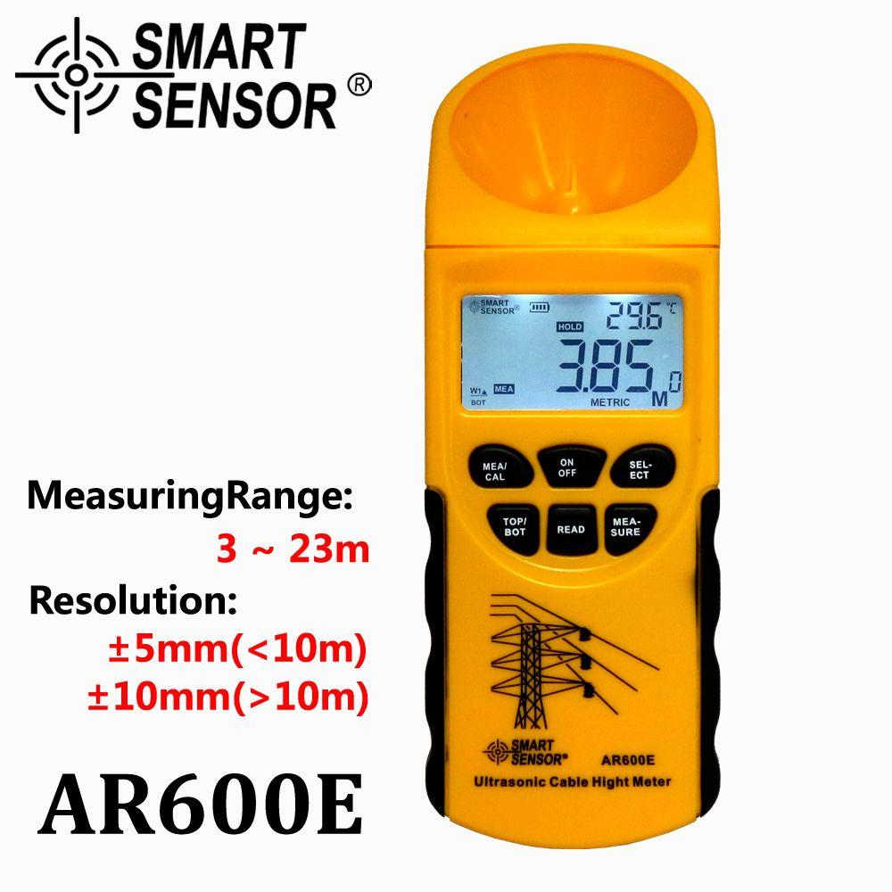 Câble à ultrasons mètre de hauteur 6 câbles mesure écran LCD plage de mesure (hauteur 3-23 m, plan 3-15 m) capteur intelligent AR600E