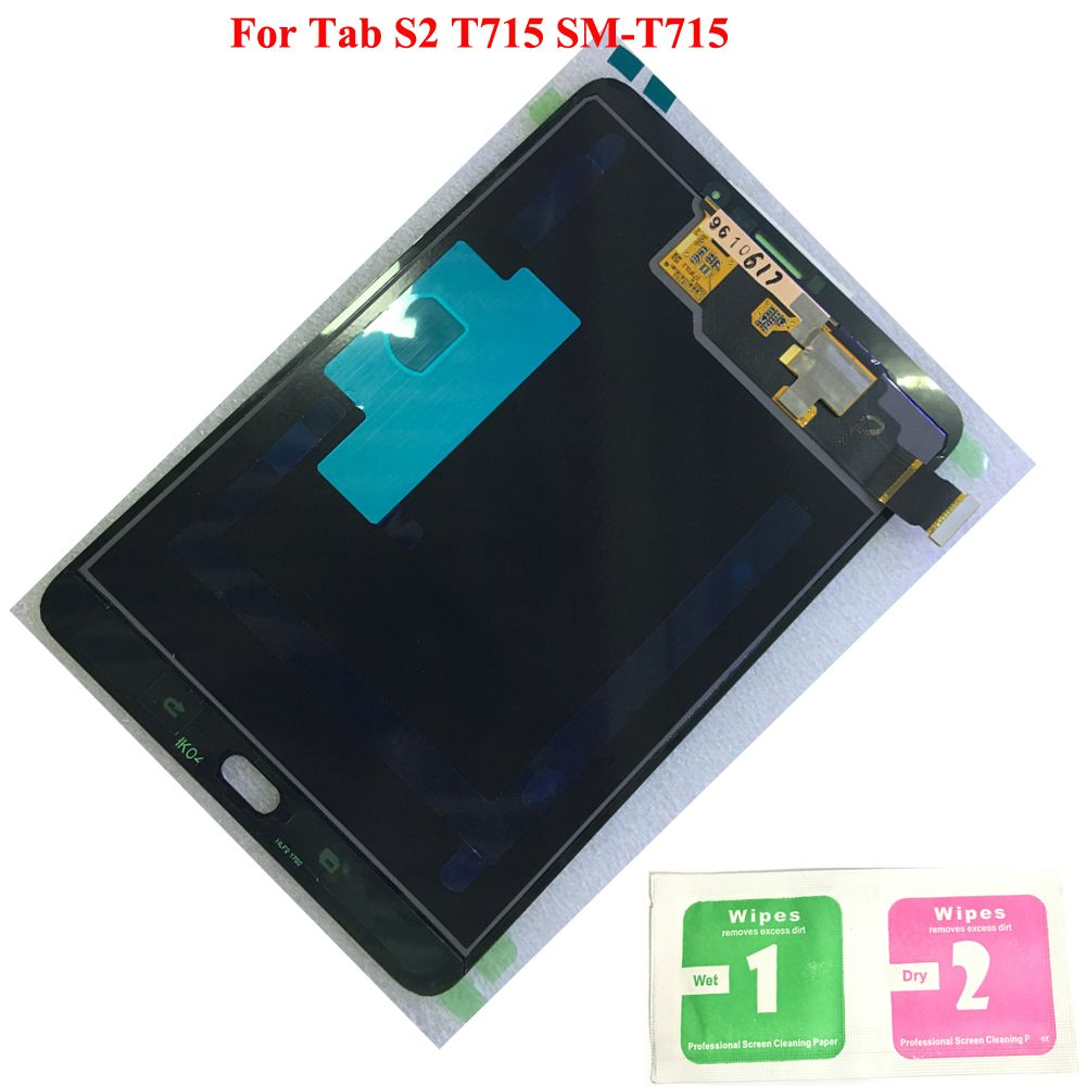 Original LCD Display Touch Screen Digitizer Sensors Assembly Panel Replacement For Samsung GALAXY Tab S2 T715 SM-T715