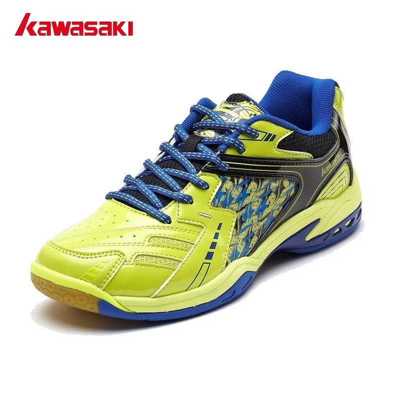 Kawasaki Marke herren Professionelle Badmintonschuhe Atmungsaktive Licht Turnschuhe Anti Rutschigen Lace-Up Schulungen Sportschuhe K-336