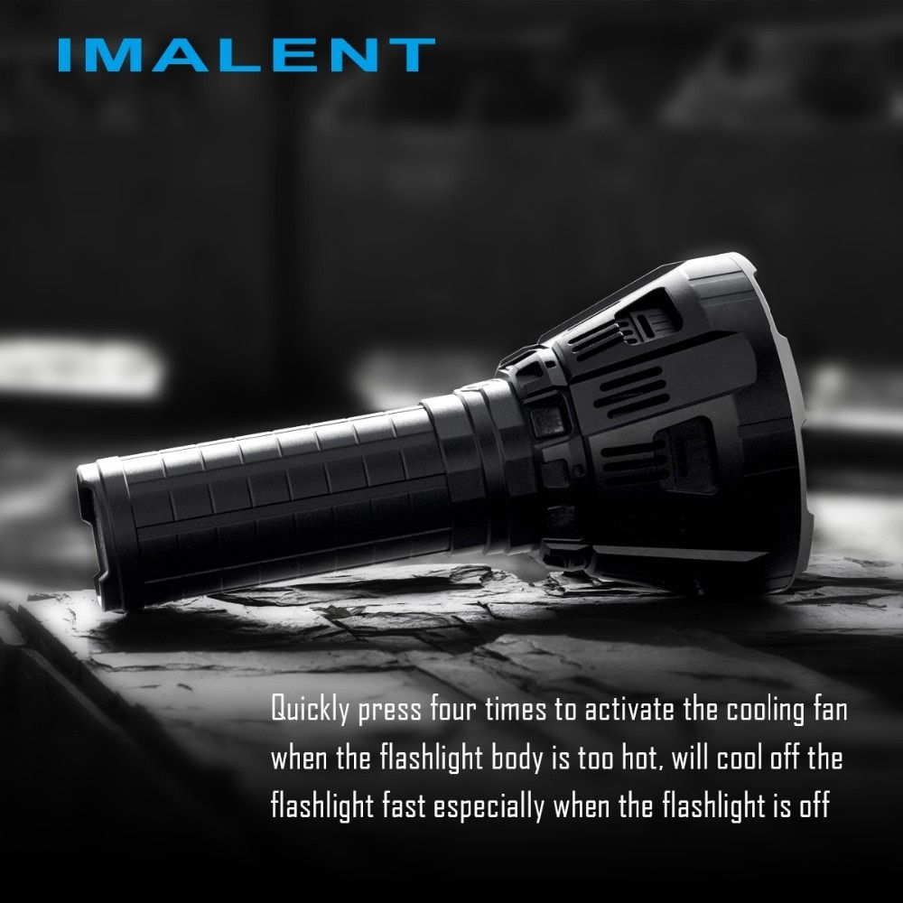 IMALENT MS12 12xCREE XHP70 53000 Lumens High Performance Outdoor Search Light LED Flashlight (Battery Pack Build-in)