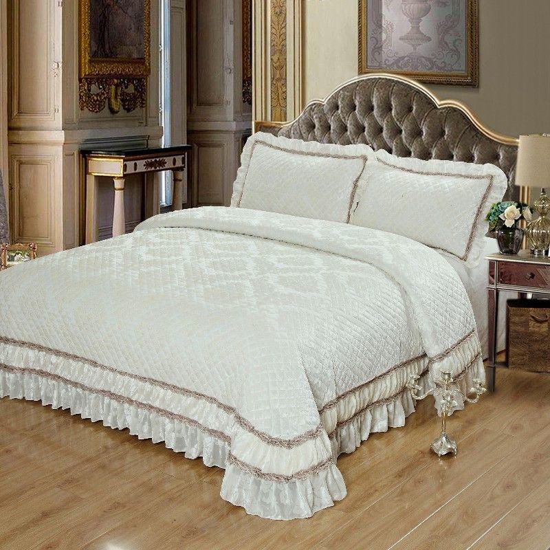 Luxus Bett abdeckung Quilt Bettdecke set bett set sofa abdeckung decke Bettdecke Kissenbezüge couvre lit housse de lit colchas couett
