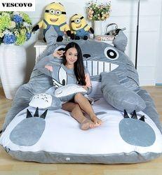 Énorme Taille Design Mignon Doux Lit Totoro Paresseux Canapé Chambre Lit Sac de Couchage 100% Coton Housse de Matelas