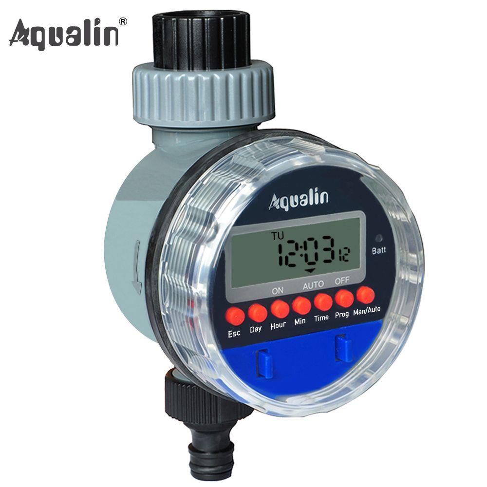Automatique électronique LCD affichage maison robinet à tournant sphérique minuterie d'eau jardin arrosage minuterie système de contrôleur d'irrigation #21026