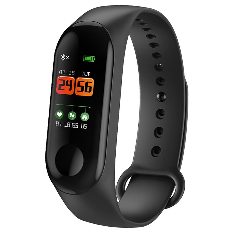 Smart Bracelet Color Screen Blood Pressure Waterproof Fitness Tracker Heart Rate Monitor Smart Band for Android IOS PK mi band 3