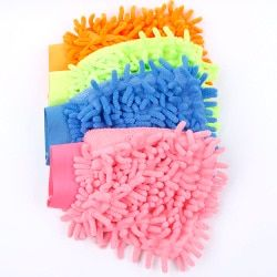 Hot Super Mitt Microfiber Car Window Washing Home Cleaning Cloth Duster Towel Glove3 Microfiber Mitt Soft Neat Towel Dish Cloth