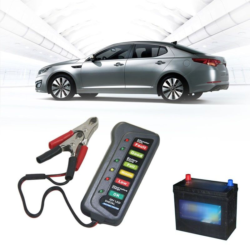 12V Car Battery Tester Analyzer Digital Car Battery Tester Auto Car Battery Auto Alternator Diagnostic Tool