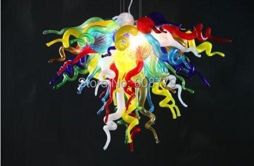 Kostenloser Versand Europäischen Stilvolle Mini Schlafzimmer Multi Farbige Glas Kronleuchter