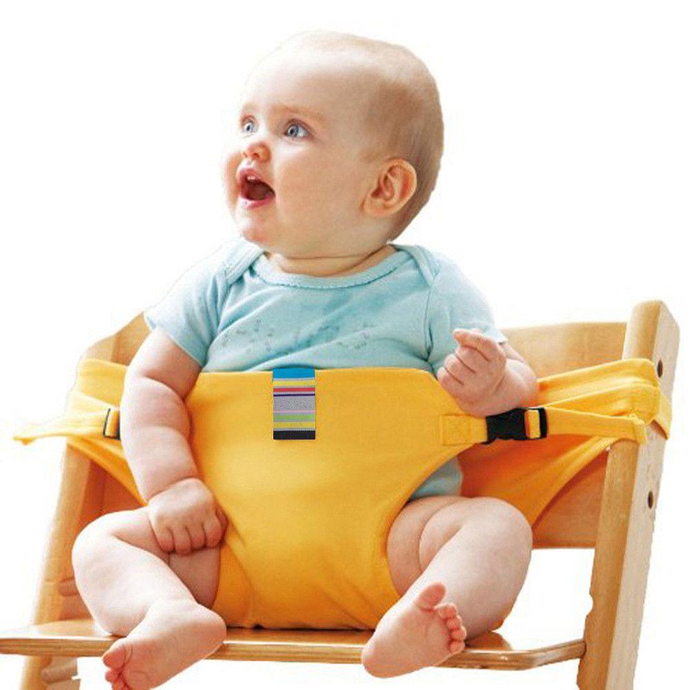 Абсолютно Портативный детские обеденный стул Дети высокое сиденье кресла ремни безопасности пояса складной столовая кормления ребенка об...