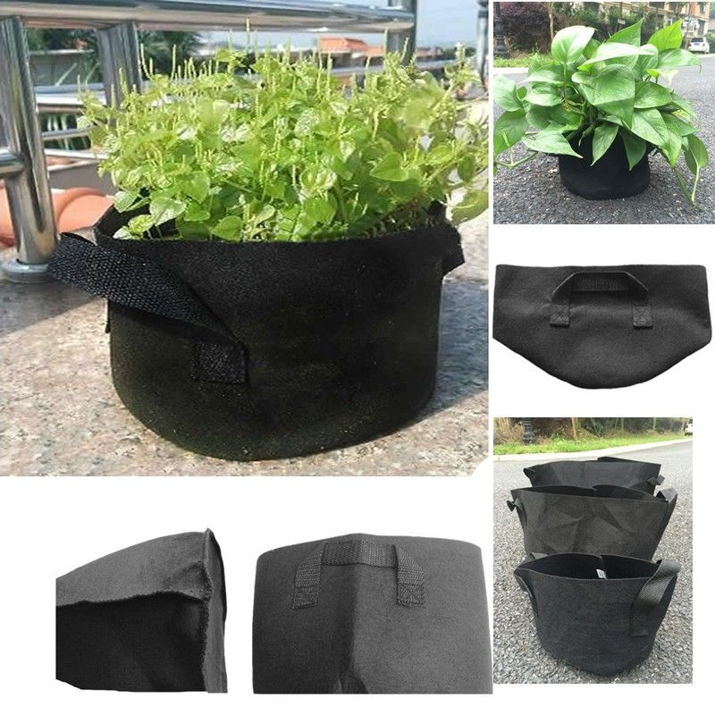 Special offer 1 PCS  free shipping Black Fabric Pots Plant Vegetable Pouch Round Aeration Pot Container Grow Bag