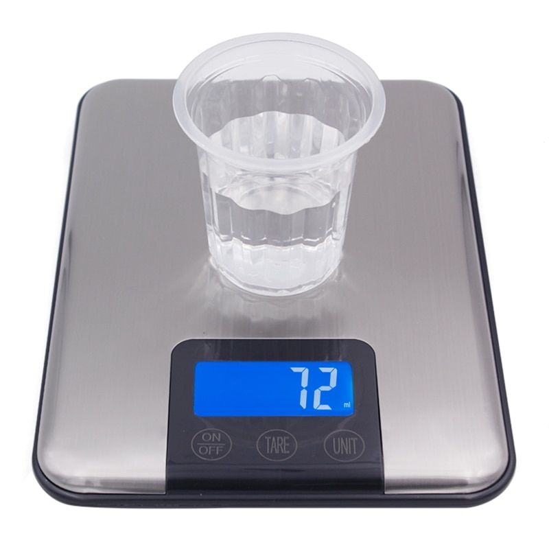 touch screen 15Kg 15000G 1G Slim Stainless Steel Lcd Digital Kitchen Food Diet Postal Scale Weight <font><b>Balance</b></font>