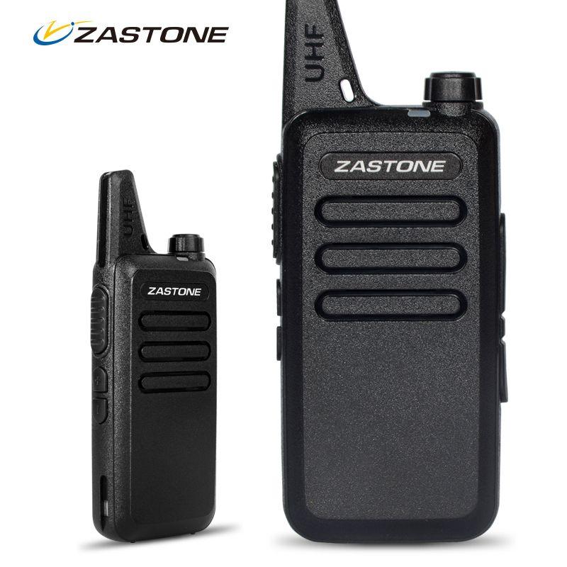 Zastone ZT-X6 Mini Walkie Talkie with Headset 400-470Mhz Frequency UHF Handheld Radios Intercom Two Way Radio Security Equipment