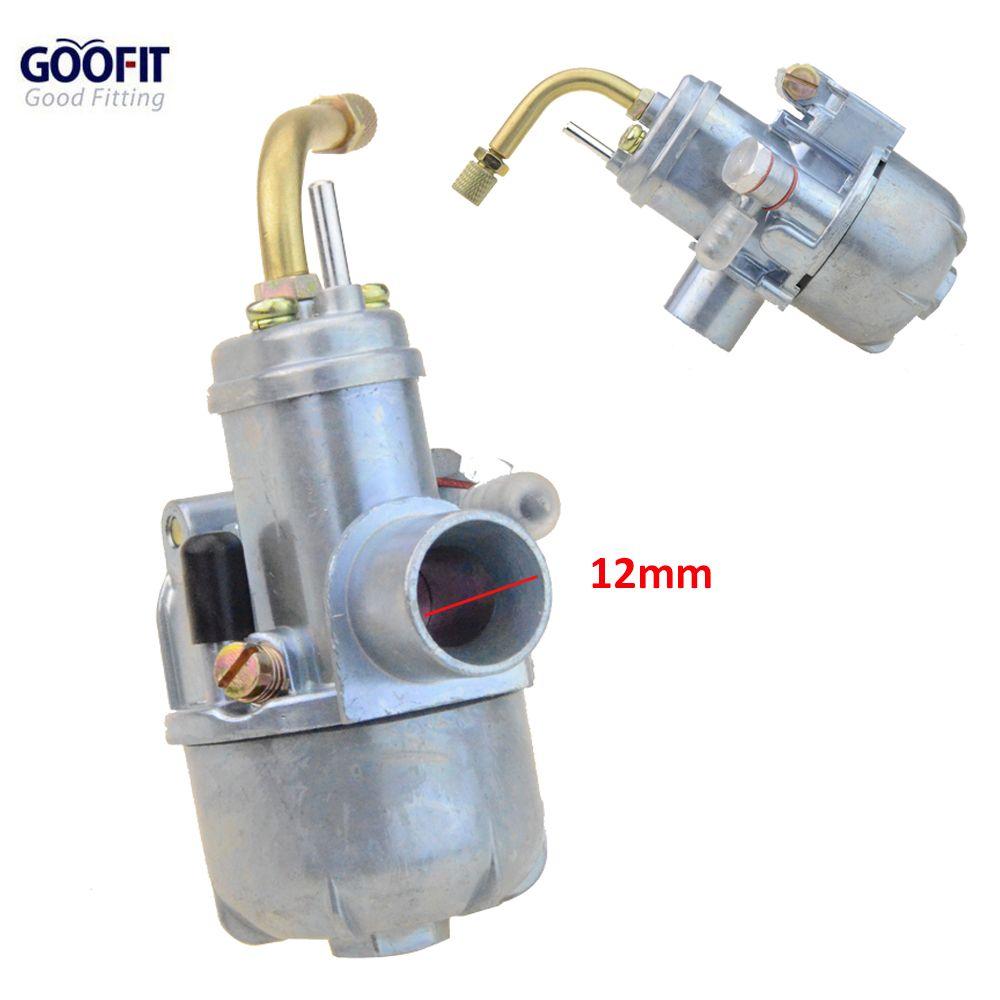Carburateur GOOFIT 12mm en forme de mobylette carburateur Maxi Sport Luxe Newport Cobra carburateur N090-112
