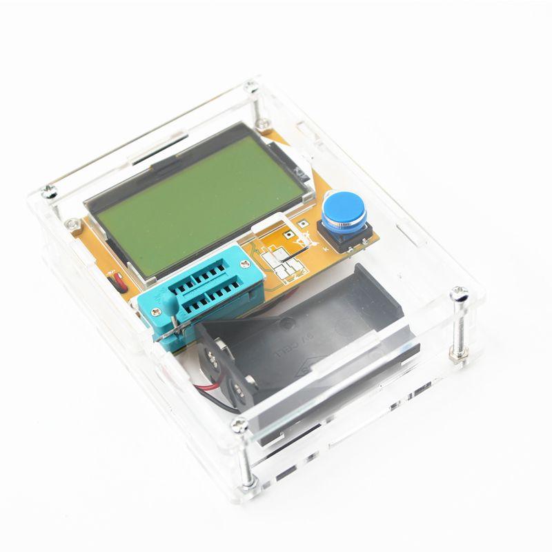 LCR-T4 Mega328 M328 Multimetr Transistor Tester ESR Meter Diode Triode Capacitance ESR Meter MOS PNP NPN LCR+CASE (not Battery)