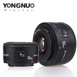 YONGNUO lente YN50mm f1.8 YN EF 50mm f/1,8 lente AF YN50 enfoque automático para Canon EOS 60D 70D 5D2 5D3 600d cámaras DSLR