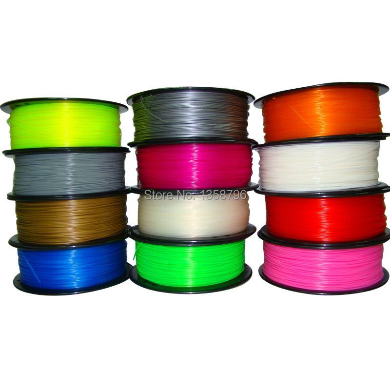 Makerbot/RepRap/UP/mendel 27 цветов дополнительно 3d принтер накаливания НОАК/ABS 1.75 мм/3 мм 1 кг пластик Резина Расходные Материал