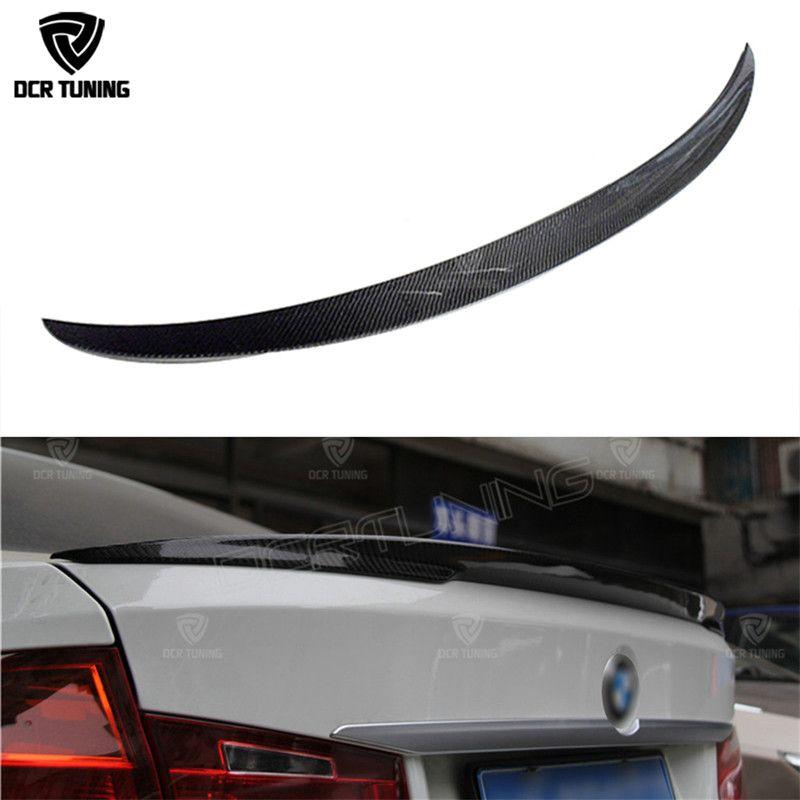 P Style For BMW F30 F80 M3 Spoiler Carbon Fiber Material M Performance Style 2012 - up 320i 328i 335i 326D F30 Carbon Fiber