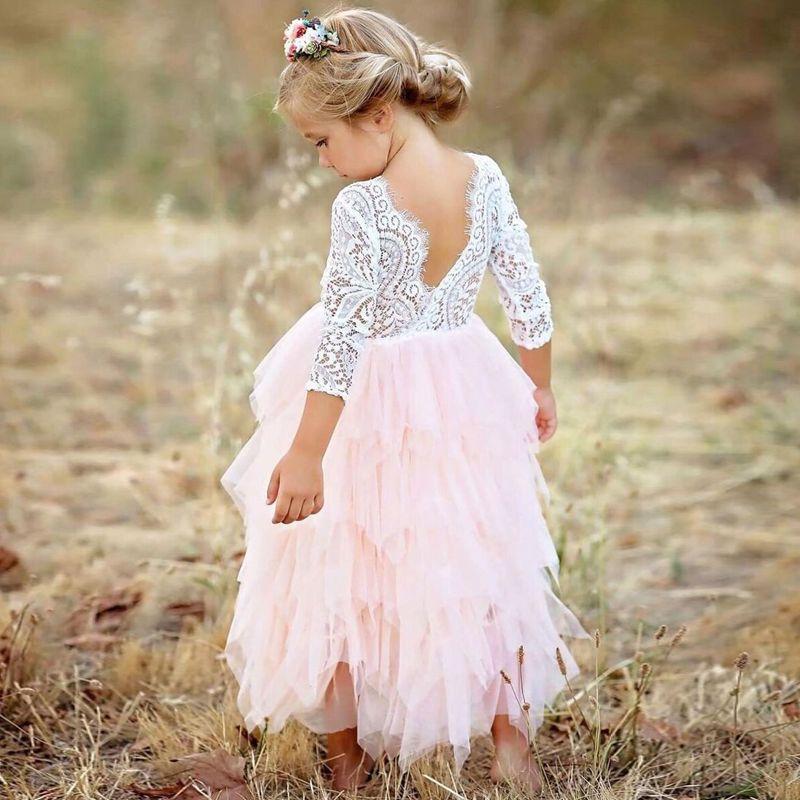 Vestidos filles robe d'été 2018 marque dos nu adolescent partie licorne princesse robe enfants Costume pour enfants vêtements rose 2-6 T
