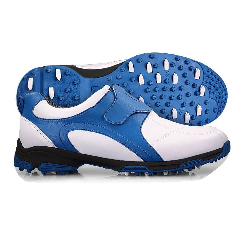 Brand PGM Mens Golf Sports Shoes Sneakers with Hook Loop Light weight & Spikes & Breathable & Steady & Waterproof