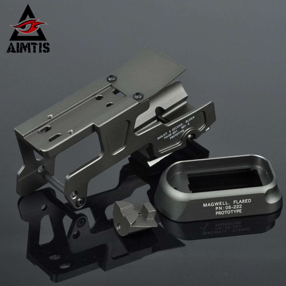 AIMTIS ALG Defense 6-Second Mount Optics Scope Mount RMR For Pistol Gen3 Glock 17 18C 22 24 31 34 35 Handguns With Magwell