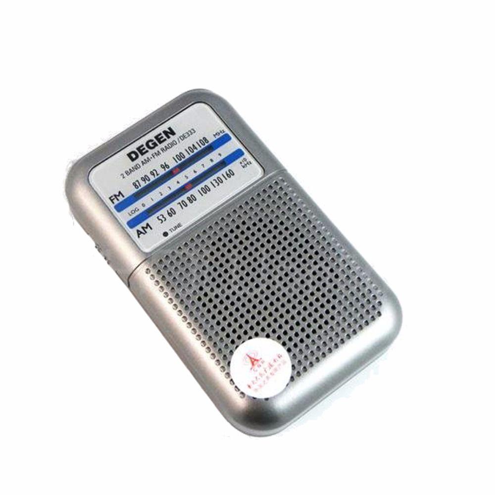 Degen Radio DE333 FM SUIS Récepteur Mini Poignée Portable Deux Bande FM Radio Enregistreur A0796A
