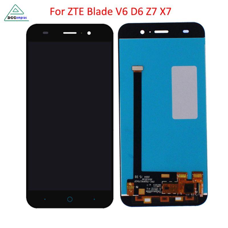 Pour ZTE Blade X7 Écran lcd D6 V6 Z7 LCD Affichage Tactile écran Digitizer Pièces de Téléphone Pour ZTE Blade X7 V6 T660 T663 LCD