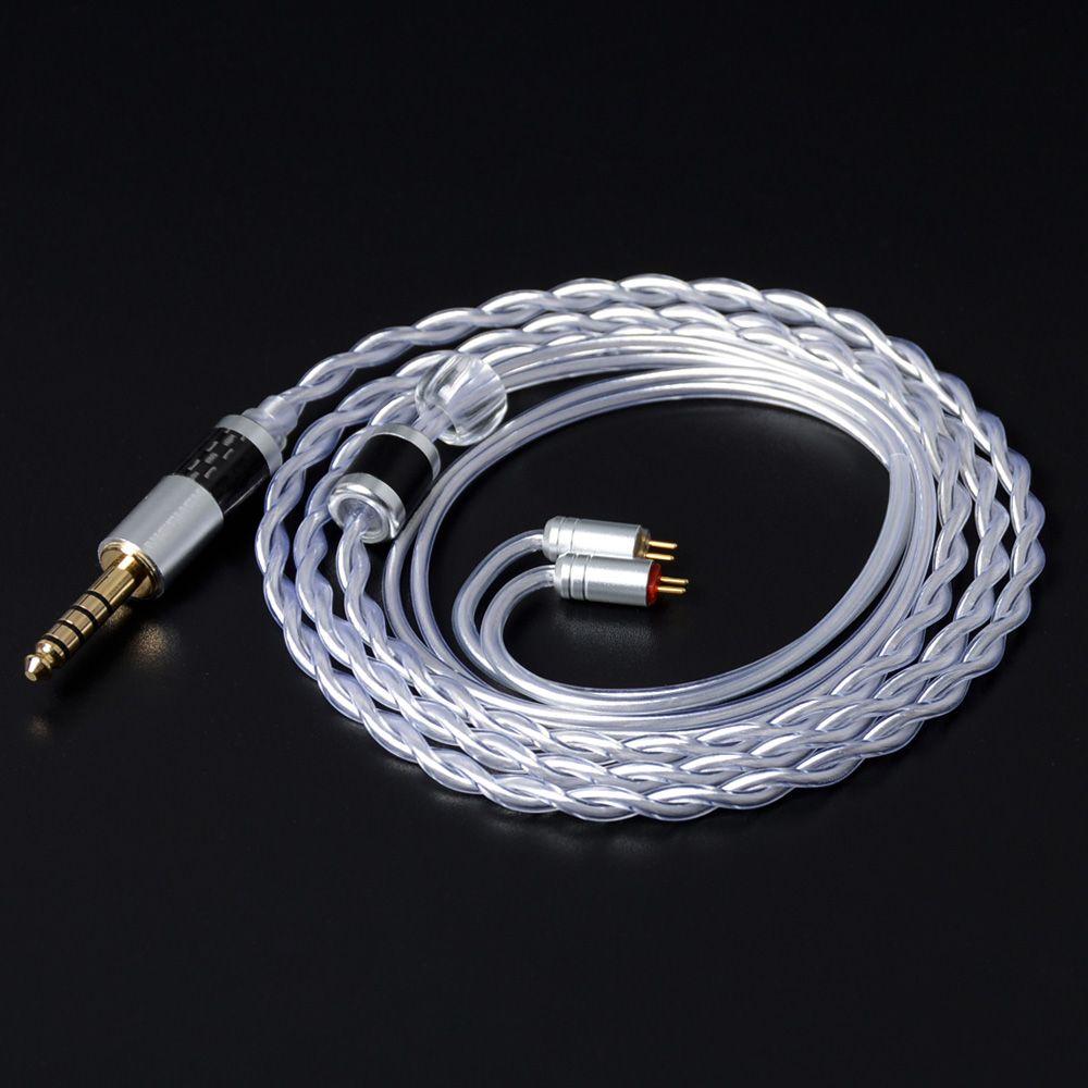 NICEHCK Einzigen Kristall Kupfer Mixed Silber Überzogene Kabel 3,5/2,5/4,4mm Stecker MMCX/2Pin Stecker Für AS10 BA10 CCA C16 M6/N3/NK10