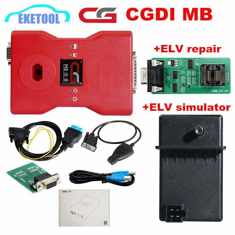Neue Original CGDI Prog MB Für Benz Key Programmer Support Alle Schlüssel Verloren mit Vollen Adaptern ELV Reparatur Adapter & MB Simulator