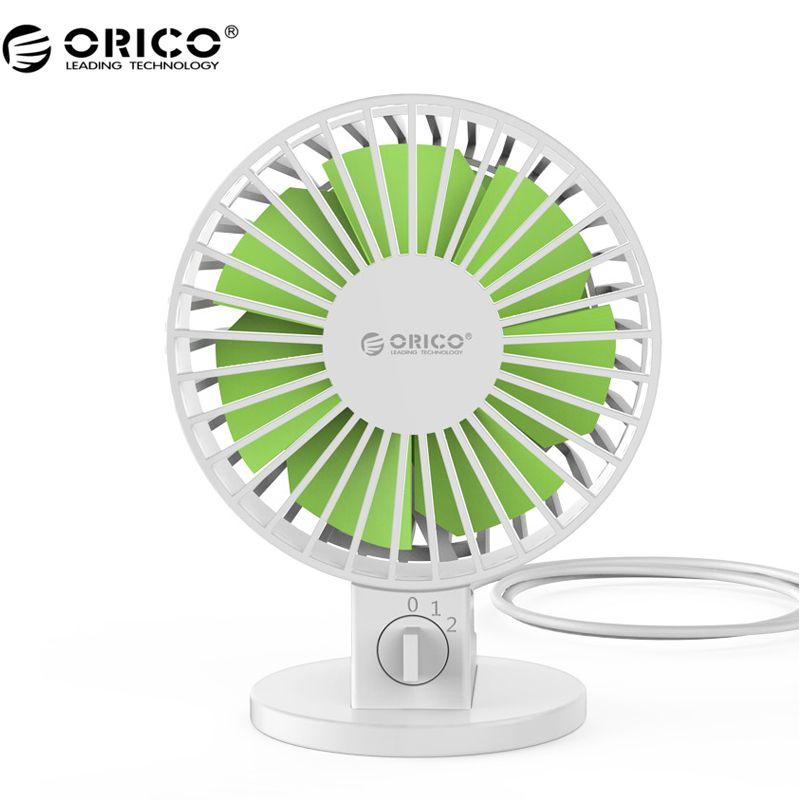 ORICO USB Fan Flexible USB Tragbare Mini-Ventilator für Notebook Laptop Power mit Schlüsselschalter Winkel einstellbar-Weiß (UF1-WH)