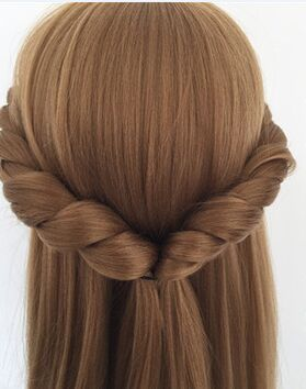 CAMMITEVER Blonde Mannequin Mannequin de Formation Chef de Cheveux Cheveux Longs Mannequin Cosmétologie Têtes de Mannequin Cheveux Modèles Fait