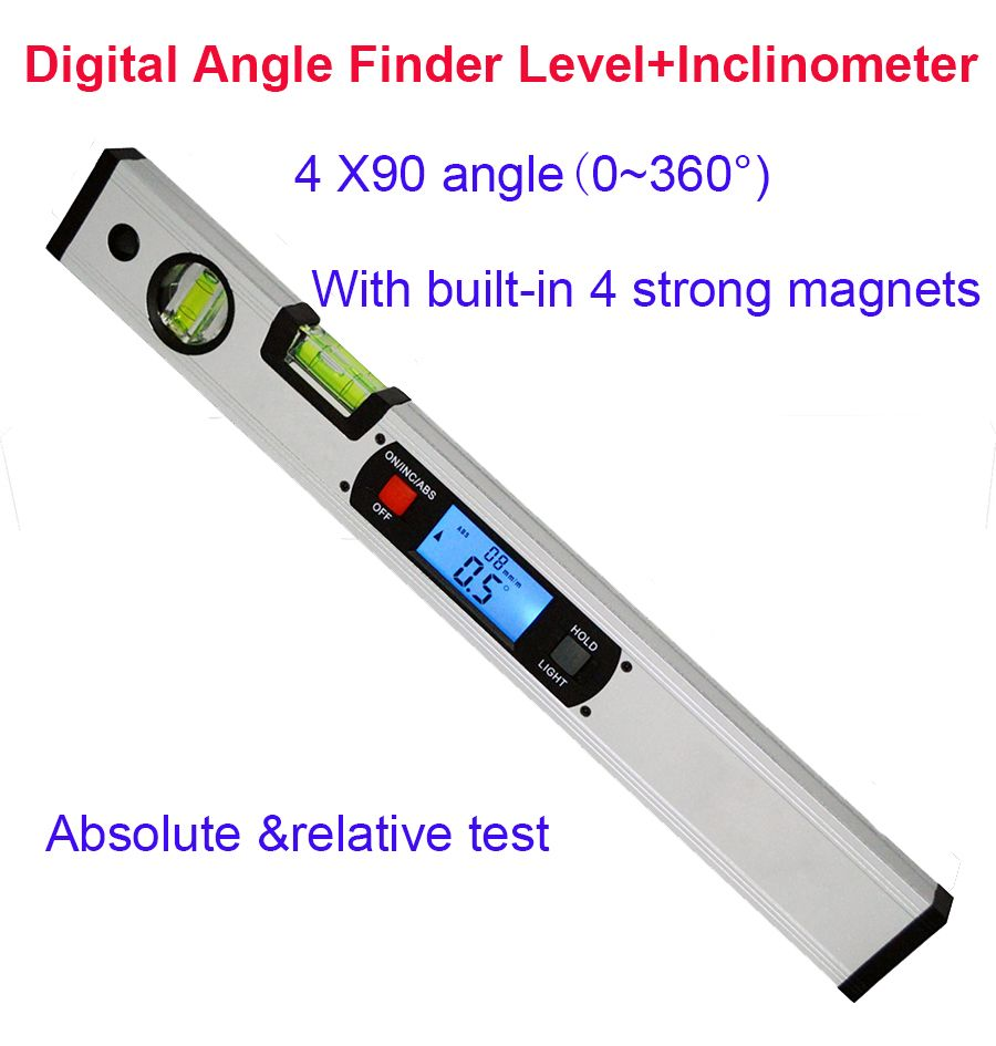 Digital Protractor Angle Finder electronic Level 360 degree Inclinometer with Magnets Level angle slope tester Ruler 400mm