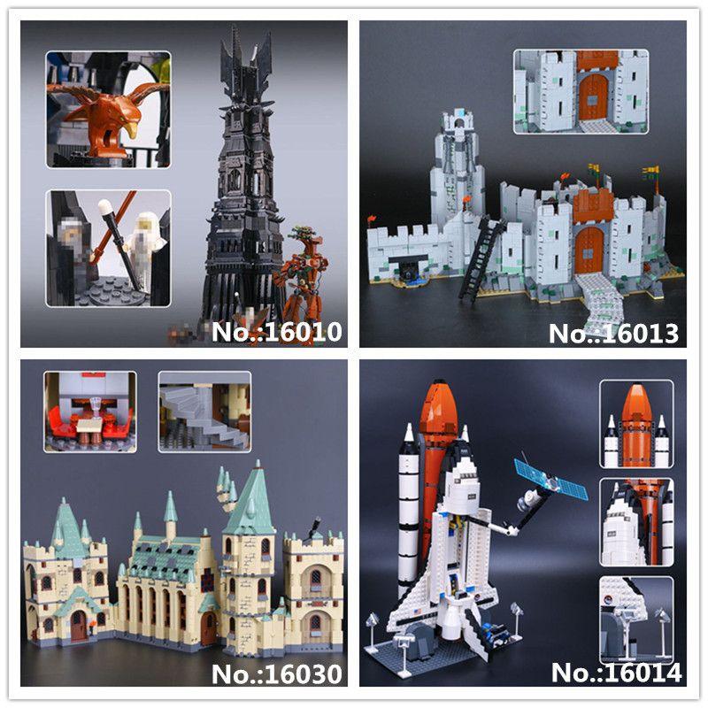 LEPIN 16010 Herr Der Ringe Turm Von Orthanc 16013 Schlacht Von Helm' Tiefe 16014 Raum Shuttle Expedition 16030 Hogwarts burg