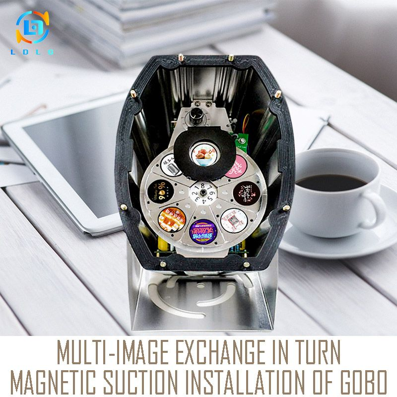 Functional Waterproof Multi-image 80W LED Gobo Projector 110V 240V Powerful 10000lm 8 Images Change in Turn LED Projector Lights
