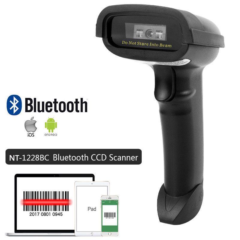 Lecteur de codes à barres sans fil tenu dans la main de NT-1698W et lecteur de Code à barres NT-1228BL Bluetooth 1D/2D QR PDF417 pour IOS Android IPAD NETUM