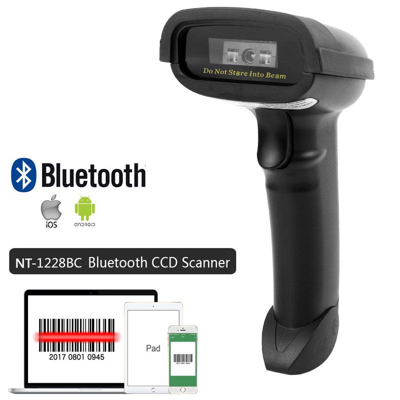 NT-1698W Handheld Wirelress Barcode Scanner AND NT-1228BL Bluetooth 1D/2D QR Bar Code <font><b>Reader</b></font> PDF417 for IOS Android IPAD NETUM