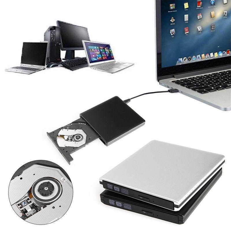 Nuevo USB 3.0 De Aluminio Lightscribe 8X CD RW Grabador Quemador Externo de DVD ROM Drive